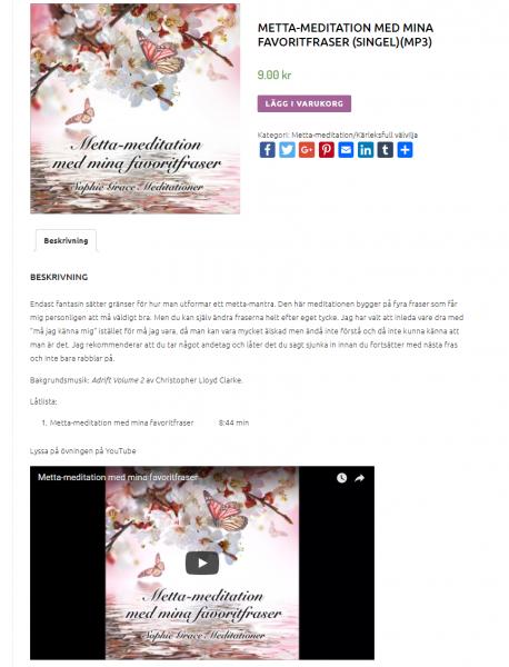 Skärmdump av webbshoppen