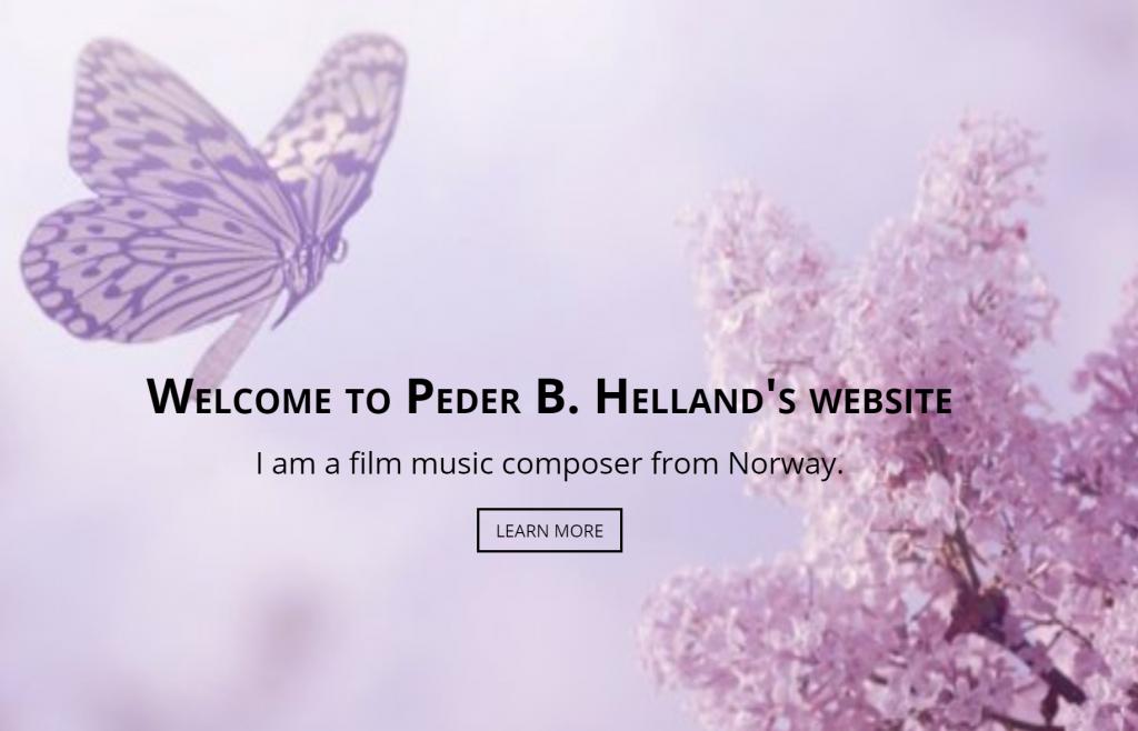 Bildlänk till Hellands hemsida